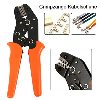 Cable Crimper Electrical Non-insulated Ferrule  Ratchet Wire Plier Crimping Tool