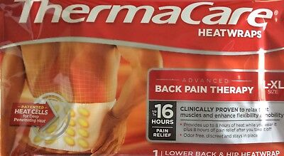 **new**  8 Thermacare Heatwraps Advanced Lower Back & Hip Pain Therapy L-Xl