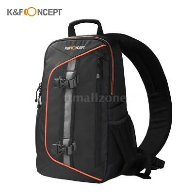 Waterproof DSLR Camera Backpack Laptop Bag for Canon Nikon with Rain Cover J7O9