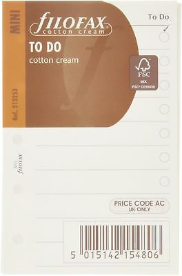 Filofax Mini To Do, Cotton Cream (cremefarben