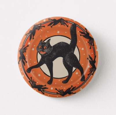 Vintage Halloween Pin - Black Cat Spooky Retro Button Pinback Buttons Pins