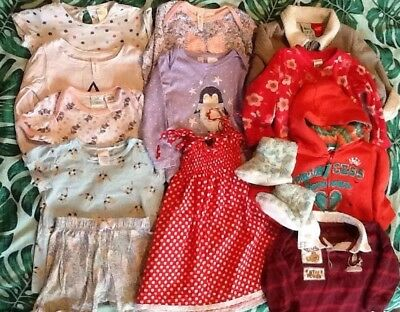 Baby Girls Size 1 And 2 Bulk Lot Mixed Clothing Great Value For $ 12 Items :)