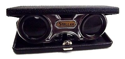 Vintage Stellar Folding Sport Glass With 2.5X Fixed Focus Lenses Original Box