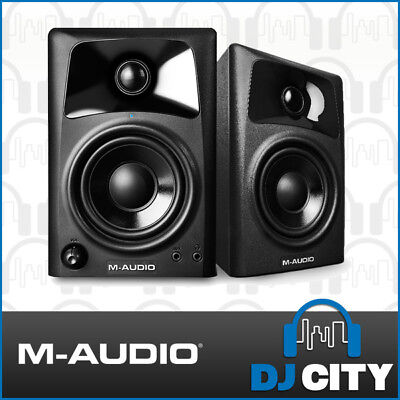 M-Audio AV32 3 Inch Studio Monitor Desktop Speakers with Built in Amp