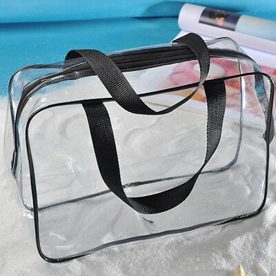 PVC Waterproof  Zip Pouch Transparent Clear Travel Storage Cosmetic Wash Bag