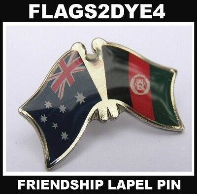 Australia flag Afghanistan flag lapel pin badge INCLUDES AUSTRALIA POST TRACKING