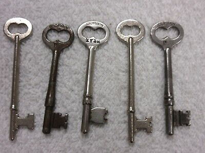 vintage antique skeleton keys lot of 5 lot H
