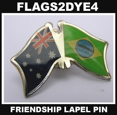 Australia flag Brazil flag lapel pin badge INCLUDES AUSTRALIA POST TRACKING