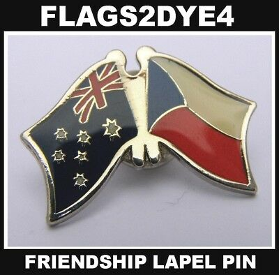 Australia flag Czech lapel pin badge INCLUDES AUSTRALIA POST TRACKING