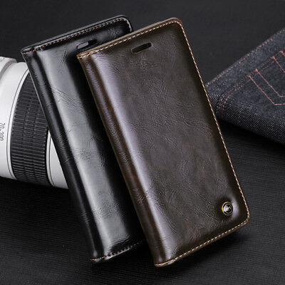 Deluxe Leather Shockproof For IPhone X/XS MAX XR 7 8  Plus Flap Card Wallet Case