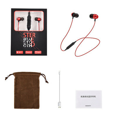 YX3 Sports Magnetic Suction Wireless Bluetooth V4.1 Earphone with Mic Headphone
