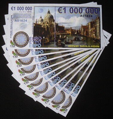 Lot Of 10 Europe 1 Million Euro Polymer Copernicus Star Trek Fantasy Art Notes!