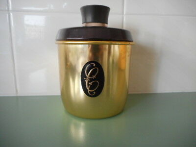 RETRO JASON MODEL MAID GOLD ANODISED CANISTER  + LID  COFFEE vgc