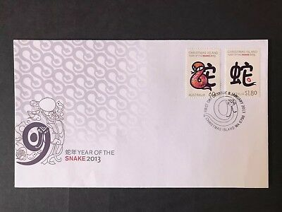 Australia 2013 Year Of The Snake First Day Cover