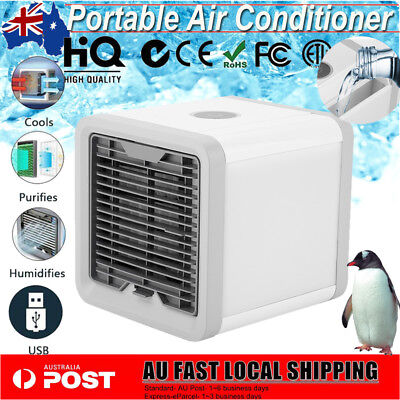 Mini Portable Arctic Air Conditioner Air Cooler LED Personal Desk Cooling Fan
