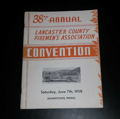 38th Annual Lancaster County Firemen's Convention, 1958, Adamstown, PA