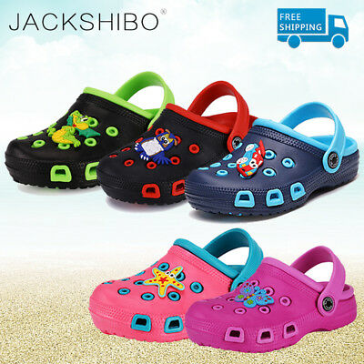 Boys Girls Sandals Kids Clogs Summer Beach Slip On Soft Breathable Baby Shoes