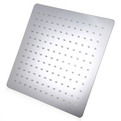 Good 12 inch Ultra-thin Square Stainless Steel Rainfall Shower Head Top Shower