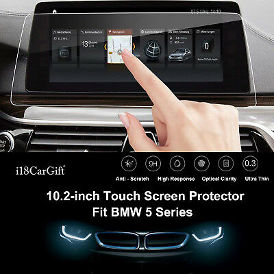 """2018-2020 BMW 5-Series Tempered Glass 10.2"""" Touch Screen Protector by i18CarGift"""