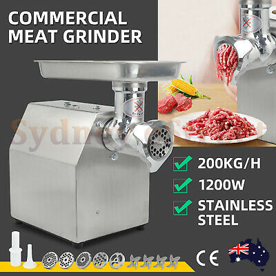 NEW 1200W 1.63HP Commercial Meat Mincer - Electric Grinder Sausage Maker Filler