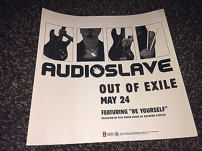 """Audioslave """"Out of Exile""""[2005] 2-sided Promo Poster Flat_Rage Against_Cornell"""