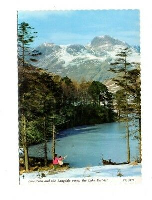 Cumbria - The Lake District, Blea Tarn and the Langdale Pikes - 1985 Postcard