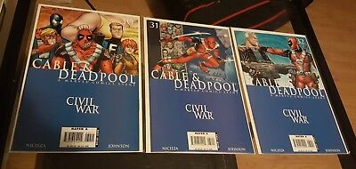 Cable & Deadpool #30, #31 and #32 Civil War Amanda Conner Cover Set