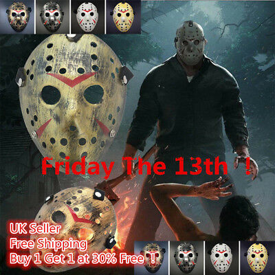 Friday The 13th Halloween Myers Jason VS. Freddy Costume Prop Horror Hockey Mask