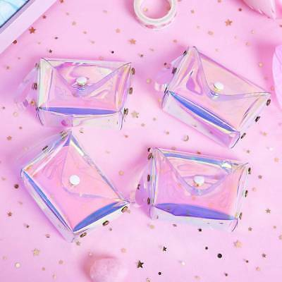 Women Holographic Transparent Coin Purse Jelly Girl's Laser Sweet Mini Wallet
