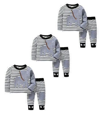 Baby T-shirt Tops+Pants Toddler Infant Newborn Elephant Household Clothes Outfit