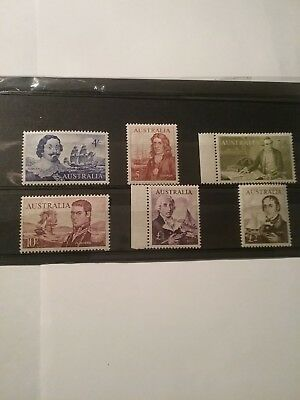 1963 to 1964 Early Navigators of Australia Complete stamps. MNH