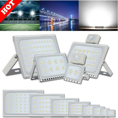 LED Floodlight SMD Sensor Motion Security PIR Light Outdoor Waterproof IP67 Cool