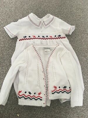 Boys Sarah Louise Christening Romper And Matching Cardigan 12months