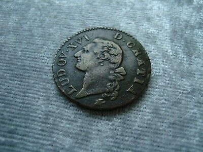 MÜNZE ODER MEDAILLE LUDWIG XVI. 1779 FRANKREICH Coin or Medal France