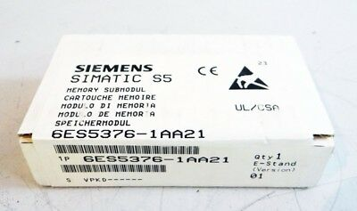 Siemens SIMATIC S5 6ES5376-1AA21 6ES5 376-1AA21 E-Stand: 01 -sealed-