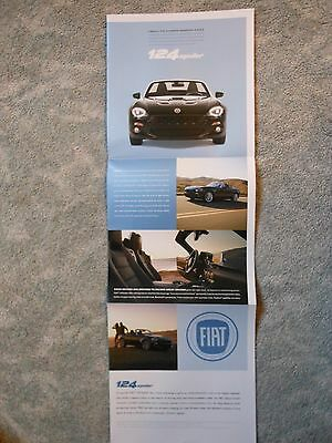 2015 Chrysler Fiat 124 Spider Color Folder Poster Introductory Auto Show Item