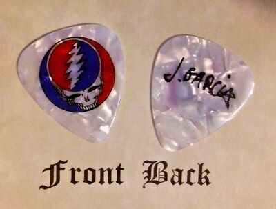 GRATEFUL DEAD - Jerry Garcia band logo signature guitar pick -(w1)