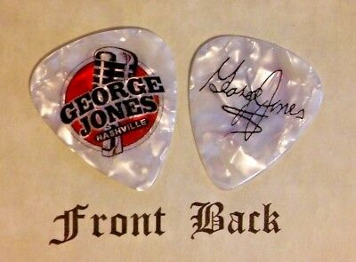 JONES - GEORGE JONES band signature logo guitar pick -  (w)