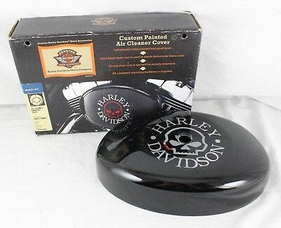 Harley Davidson Motor Cycle Accessories Air Cleaner Cover Kit Skull 29829-05BNP