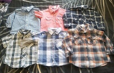 Boys size 1 baby toddler cotton button up shirts, bulk lot