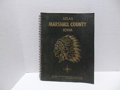 Vtg 1967 Atlas Marshall County Maps Plats Rural Directory Schools Churches