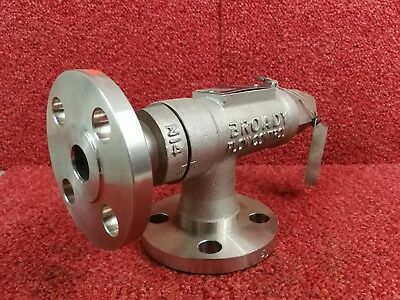 Broady Pressure Relief Valve Type 26112 Set At 10BAR Stainless Steel *