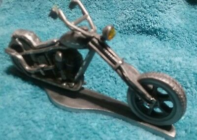 Spoontiques Motorcycle Pewter Amber Light
