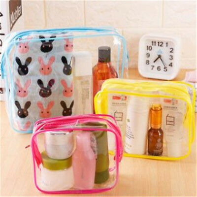 Cosmetic Makeup Storage Bag Toiletry Travel Portable Transparent Pouch Bag BS
