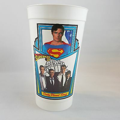 Vintage Superman IV Daily Planet Staff #3 Cup 7-Eleven 1987