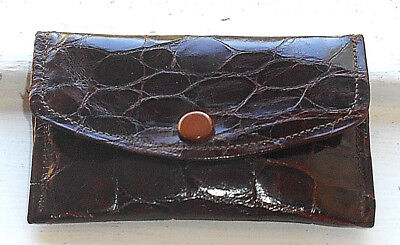 ANTIQUE SMALL PURSE CROCODILE LEATHER c.1920