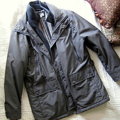 Perfect Barneys Insulated Military Style Coat in Modern Barbour Bedale style