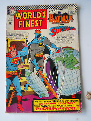 """1966 D.C. COMICS  WORLDS FINEST MARCH No 165  FEATURING"""" WHO WILL SIT ON THRONE"""""""