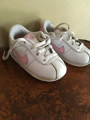 buy popular 047bf 9f3b6 ... Kids Foot Locker Nike Cortez Toddler Baby Girls Size 7C White pink  Leather Lace Up Sneakers. ...
