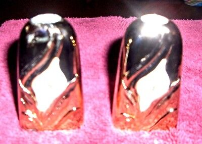 Vintage Salt & Pepper Shaker Set Gold With Lily Japan